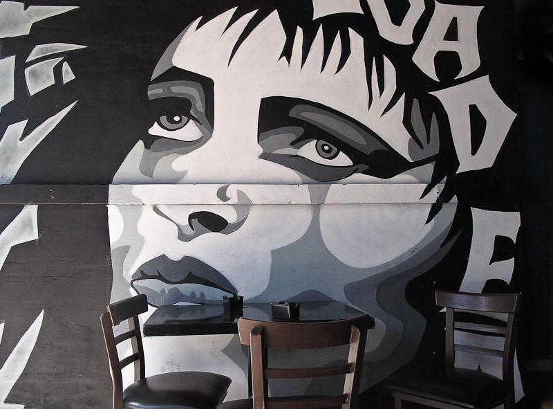 January 14 - Wall at Hollywood restaurant