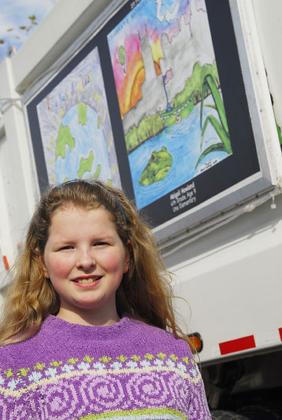 The first place winner for the Metro-wide contest was Abigail Howland, a 4th grader at Una who received $1,500 for her school.  Shakaya Murphy, another 4th grade student at Una, was a runner-up and also has her artwork featured on the side of a truck.