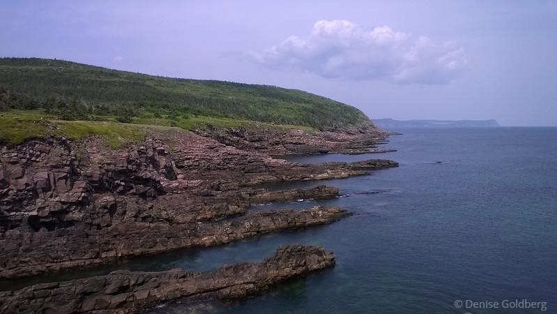 jagged rocks at Cape Spear, Newfoundland