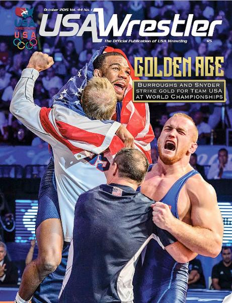 USA Wrestler Cover, Oct, 2015