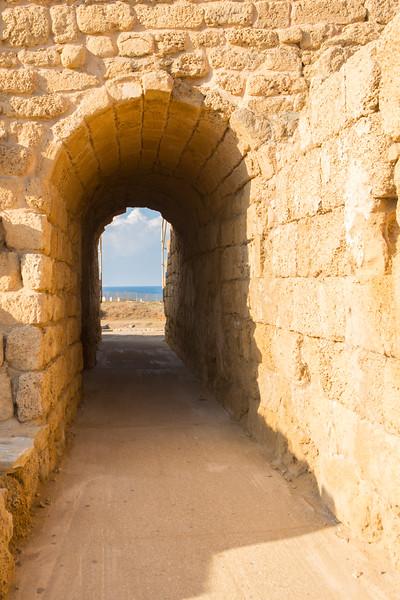 Caesarea Theater Exit