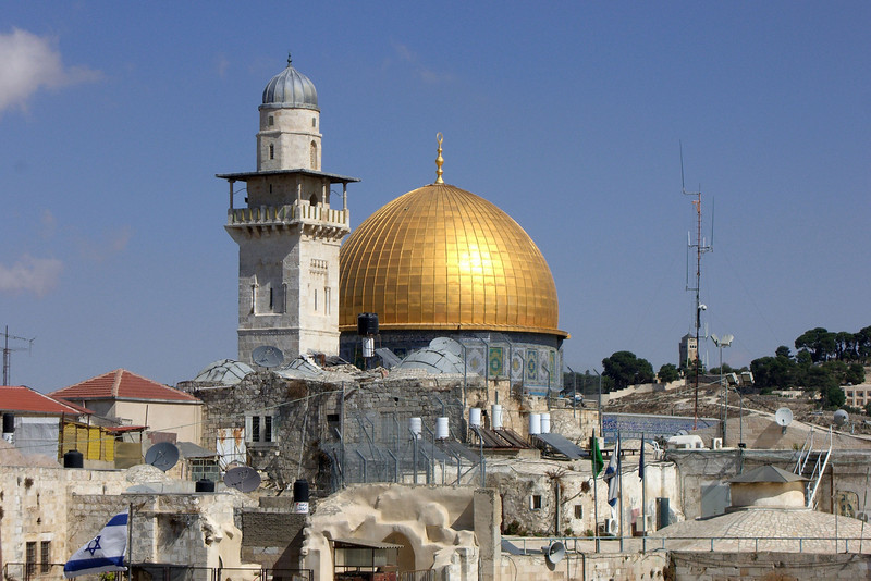 22-Dome of the Rock—Islamic shrine built over the Foundation Stone (אבן השתייה—holiest spot in Judaism). Completed 691; oldest existing Islamic building in the world.
