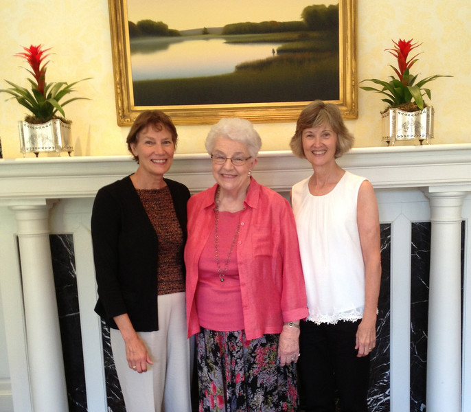 Fran Whaley & Melanie Cerne take Norma Mitchell to lunch as part of an Outreach silent auction offering  2013