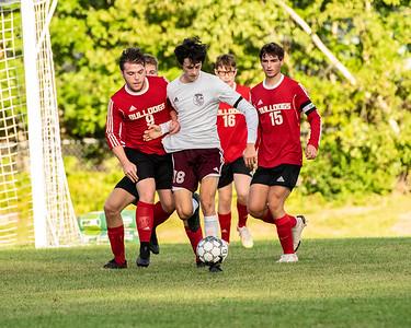 2021 Boys Soccer:  Hall-Dale vs Monmouth