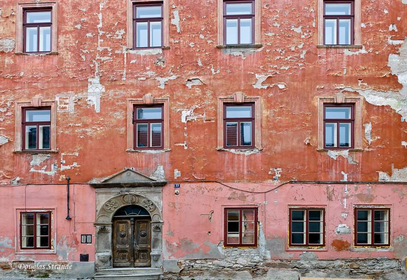 War ravaged building in Cesky Krumlov....not restored yet