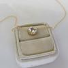 1.07ct Old European Cut Diamond AGS I SI1 Yellow Gold Bezel 17