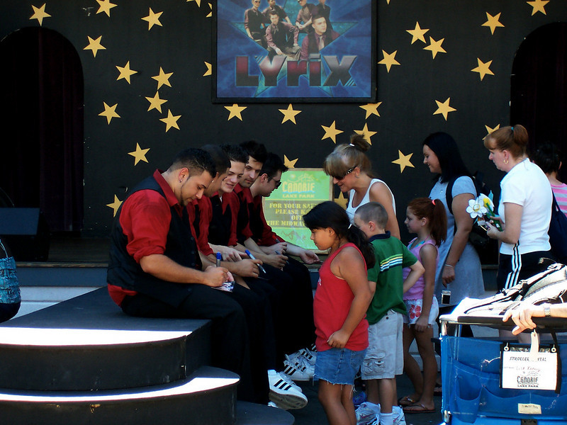 Signing autographs after the show.