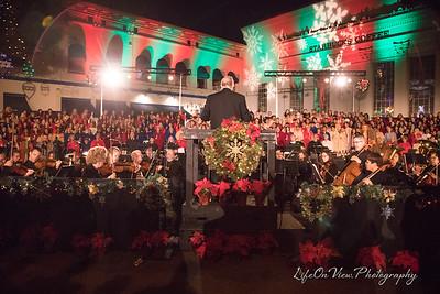 Orange tree-lighting & candlelight choir 2017