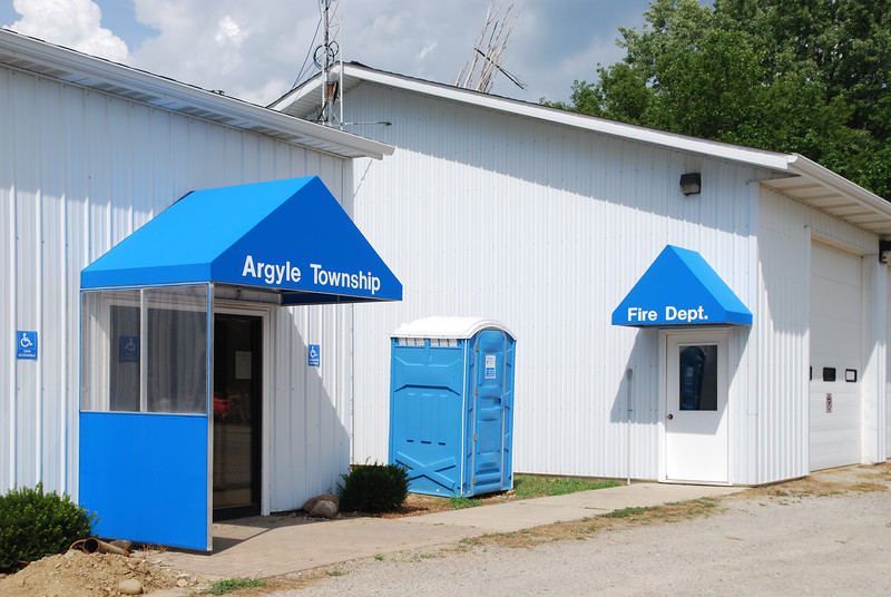 Entrance to the Argyle Township Hall