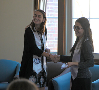 Hannah PSI CHI Induction Ceremony at Emmanuel College