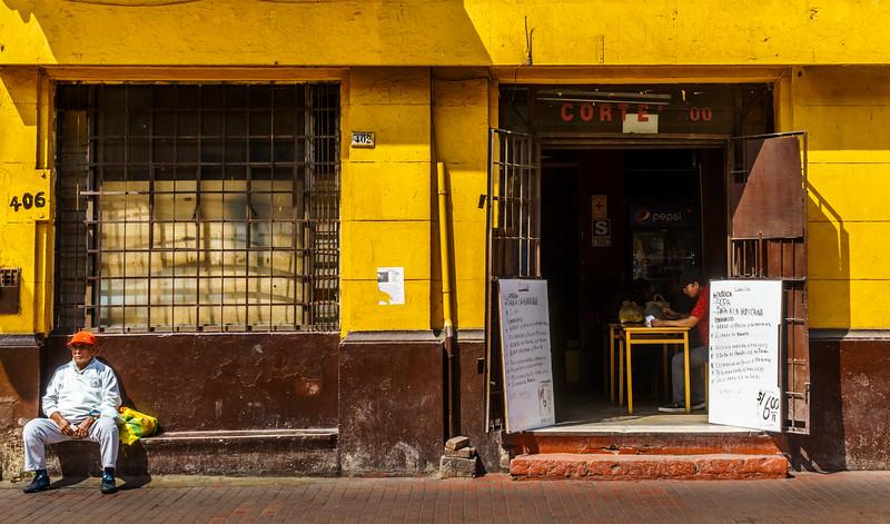 Street life scene in Lima.