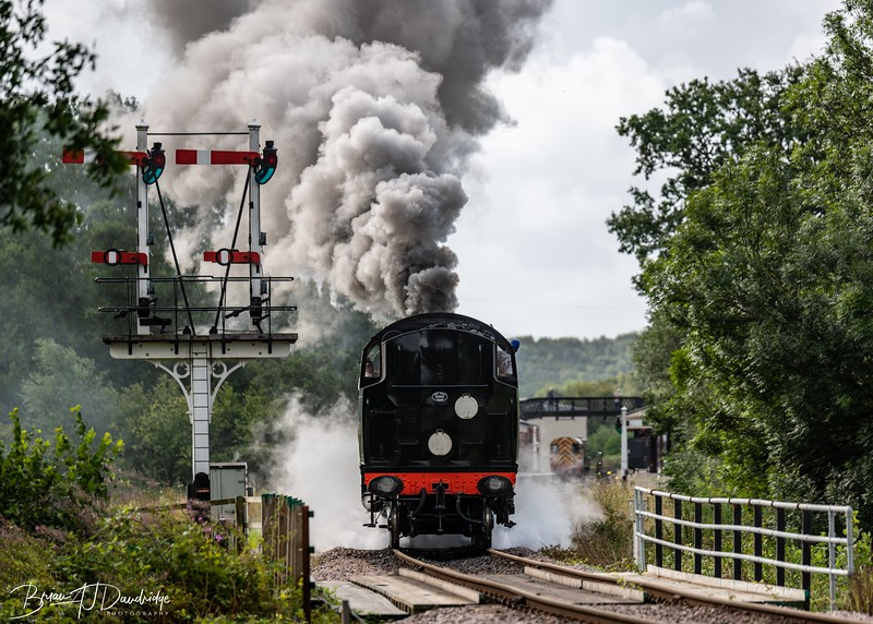 British Railways Standard Class 4MT 2-6-4 Tank Locomotive No 80151 crosses the bridge