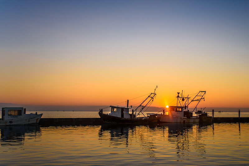 Shrimp Boats in Sunrise