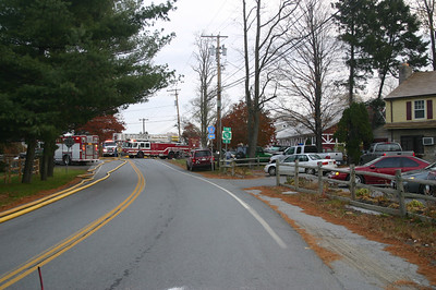 Matt's Auto Body Shop Fire in Salt Point, NY - Nov. 9, 2005
