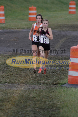 One Mile Mark, D1 Girls - 2013 MHSAA LP XC Finals