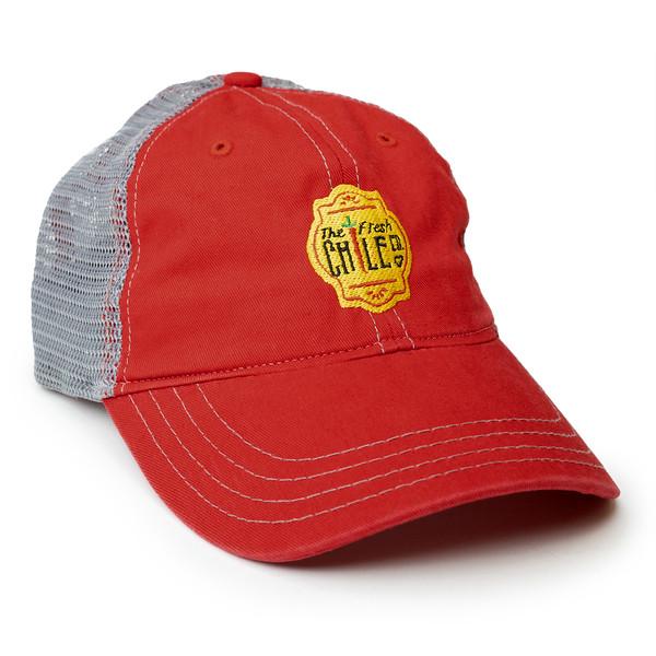 Fresh Chile Company Logo Hat - Mesh Cap - Red Grey.jpg