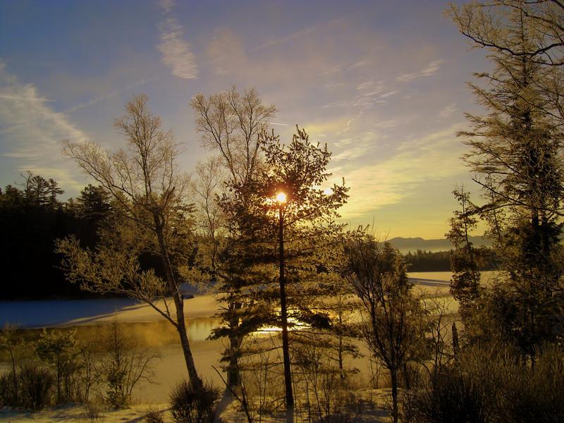 Second Pond, Christmas morning, 2009.CIMG0843.JPG