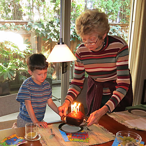 Karl, birthday cake, bubbie
