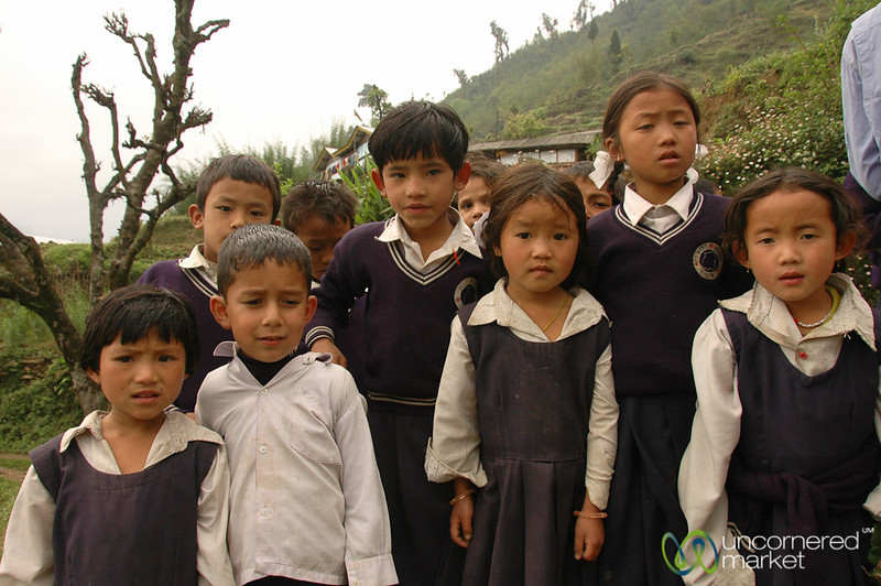 Curious School Kids - Sikkim