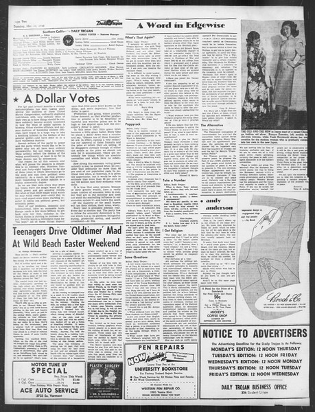 Daily Trojan, Vol. 39, No. 107, March 30, 1948