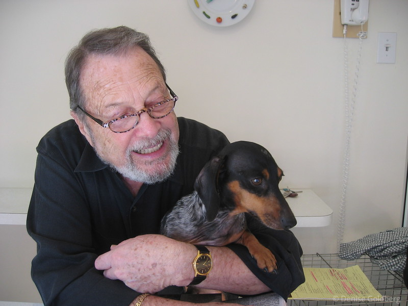 Dad and Bailey, November 2005