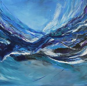 """Wave"" (acrylic on canvas) by Dinara Aristo"