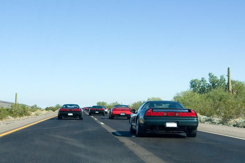 NSXing across Arizona (photo by Valerie Iwasaki)
