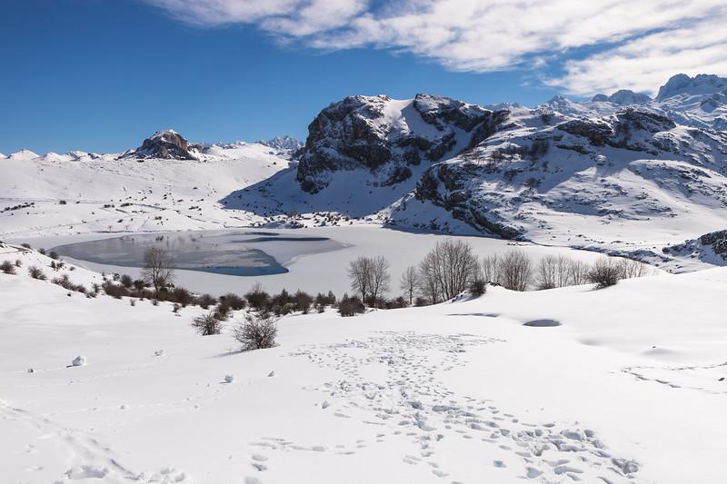 Covadonga Lake, Picos de Europa National Park. Asturias, Spain.