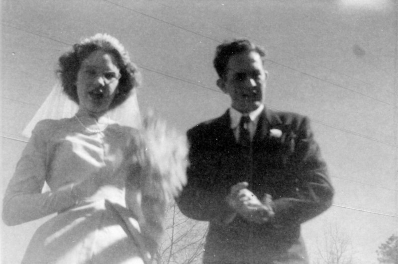 Maria Jacob and Walter 'Rip' Smock at Frieda and Bob's wedding 1947