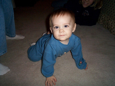 Jaycob at our house - October 25, 2001