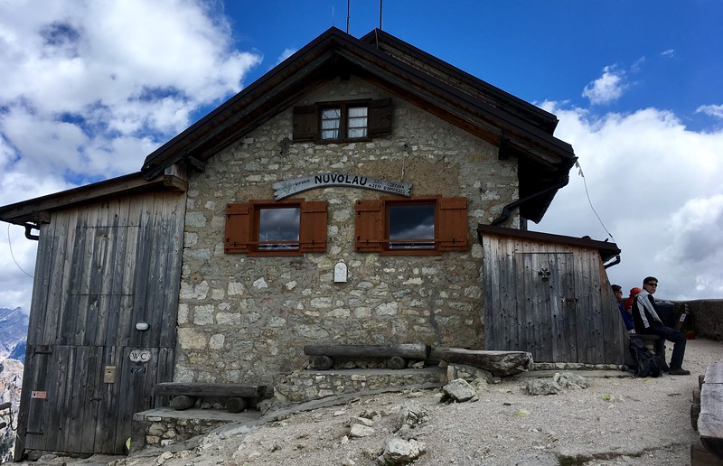 Rifugio at the top of Mt Nuvolau (2,575m)
