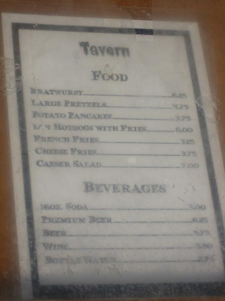 The new menu features bratwurst, pretzels, and potato pancakes.