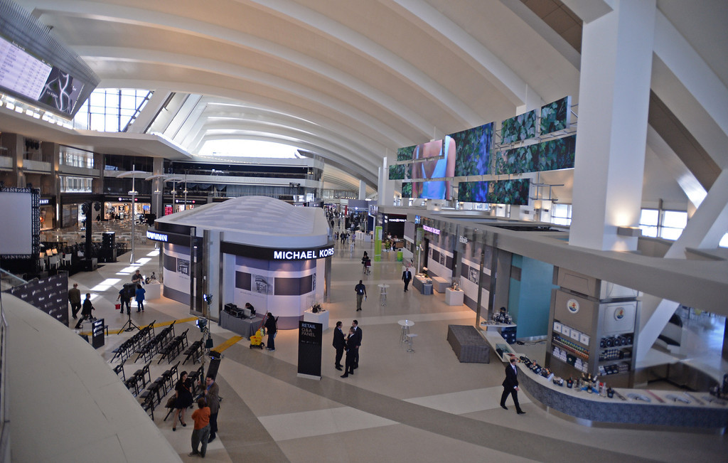 . Media preview of the new Tom Bradley International Terminal at LAX.  Photo by Brad Graverson 6-20-13