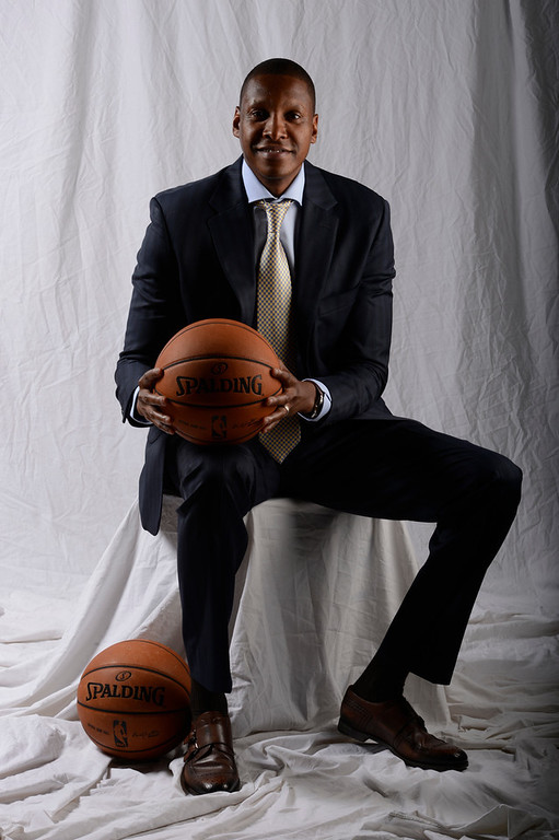 . Masai Ujiri. Denver Nuggets pose for portraits and meet with the media during Media Day at Pepsi Monday, October 1, 2012 at Pepsi Center. The team also unveiled their new alternate uniform. John Leyba, The Denver Post