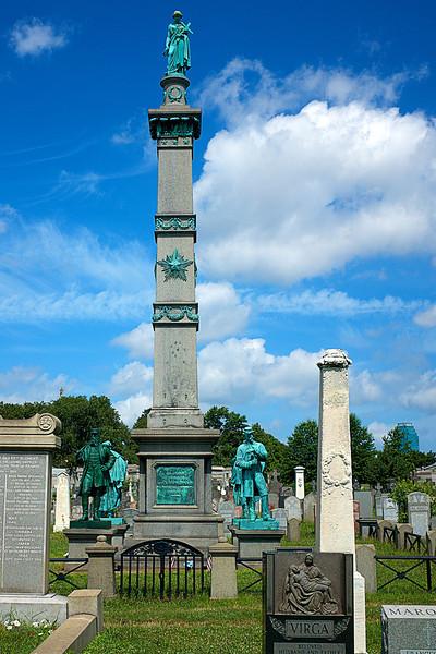 Calvary Cemetery Ciivil War Monument