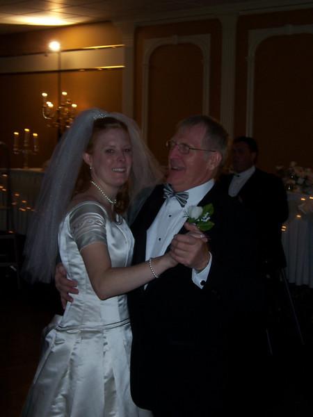 The beautiful bride, Liz, having a dance.