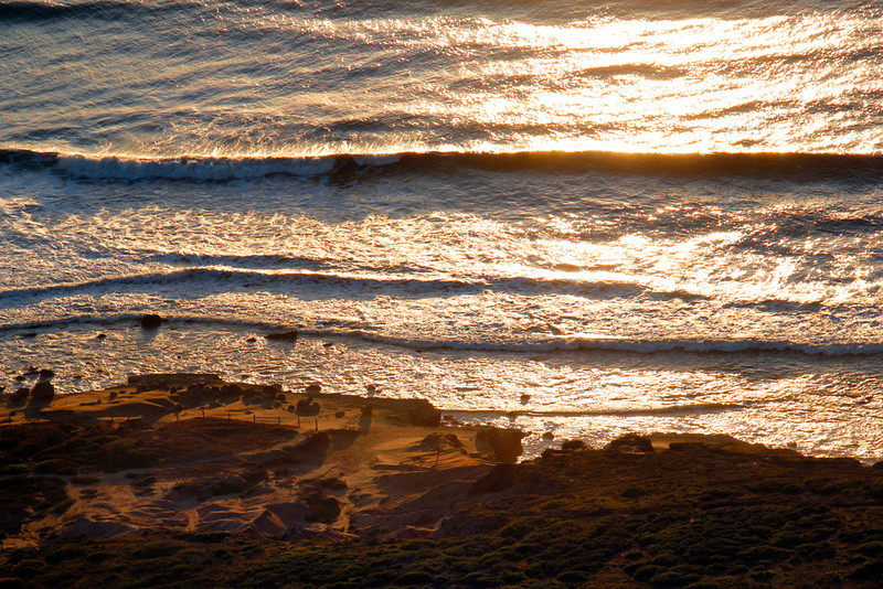 Golden Shores at Sunset