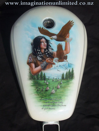 Indian girl and Eagles trike