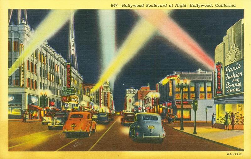 Hollywood Boulevard at Night