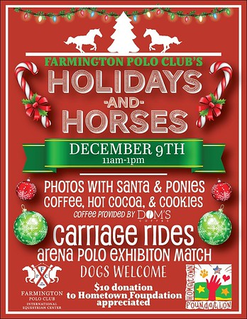 Holiday and Horses -  December 9, 2018