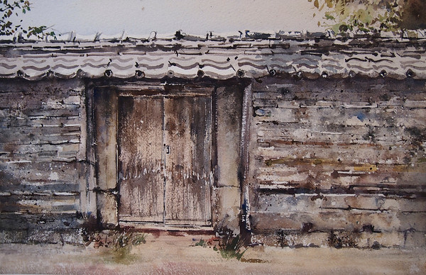 Gabrielle Moulding - Edo Wall and Old Door Yanaka