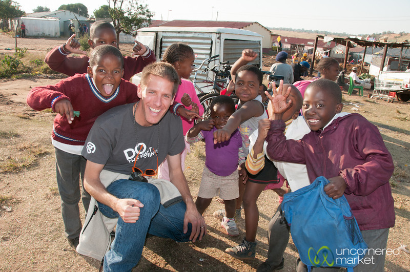 Dan With Kids in Soweto, South Africa
