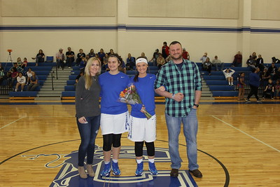 Celeste High School Basketball Senior Night