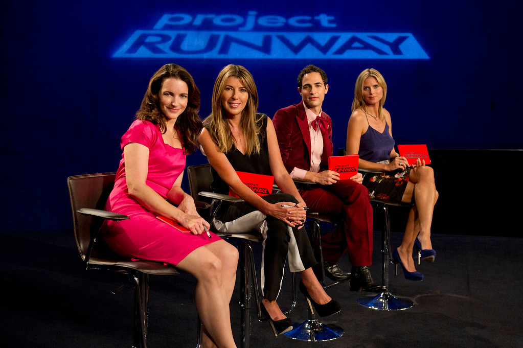 . Project Runway (L to R) Guest judge Kristin Davis, Nina Garcia, Zac Posen and Heidi Klum judge Project Runway season 11, premiering Thursday, January 24, at 9pm ET/PT on Lifetime. Photo by Barbara Nitke Copyright 2012