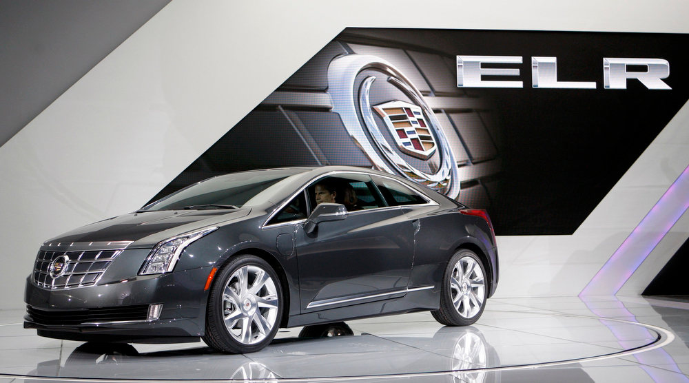 . The 2014 Cadillac ELR plug-in hybrid is introduced at the North American International Auto Show in Detroit, Michigan January 15, 2013. REUTERS/Rebecca Cook