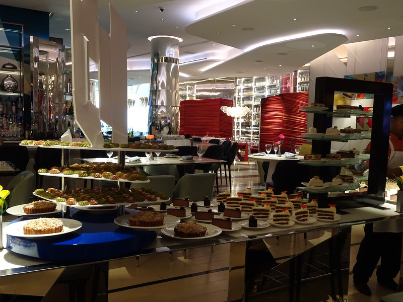 Lago at Bellagio for Sunday Brunch. The dessert table.