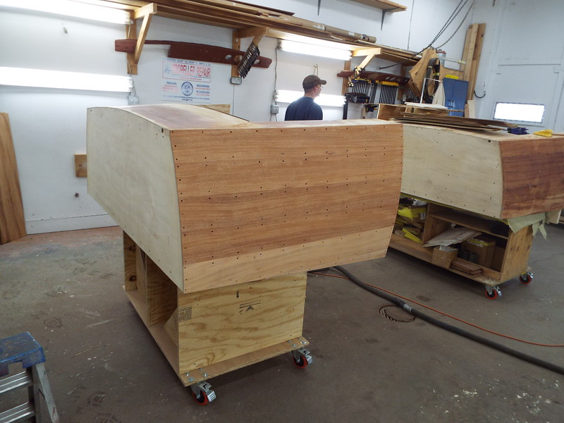 Starboard side rough sanded.