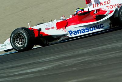 2006 Toyota F1 breaks the lap record at Laguna Seca