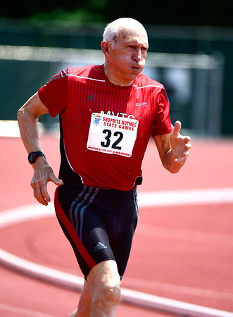 7/14/2018 Mike Orazzi | Staff Abe Bernstein during the Nutmeg State Games held at Veterans Memorial Stadium in New Britain Saturday.