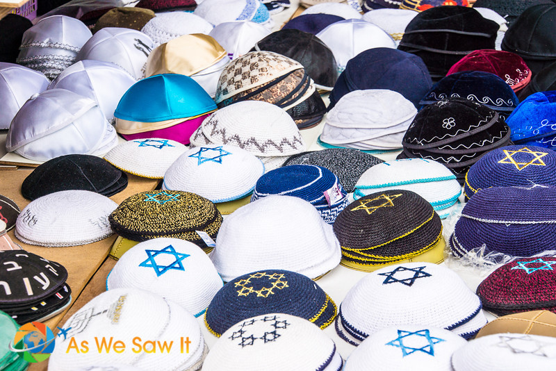 Yarmulke (Kippe) - small hats worn by men in the Jewish faith.  Rabbi ordered, but not requires by the written word (Bible).